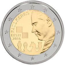 """2 Euro Gedenkmünze Estland 2016 """"Paul Keres"""" Unz, Sofort lieferbar!"""