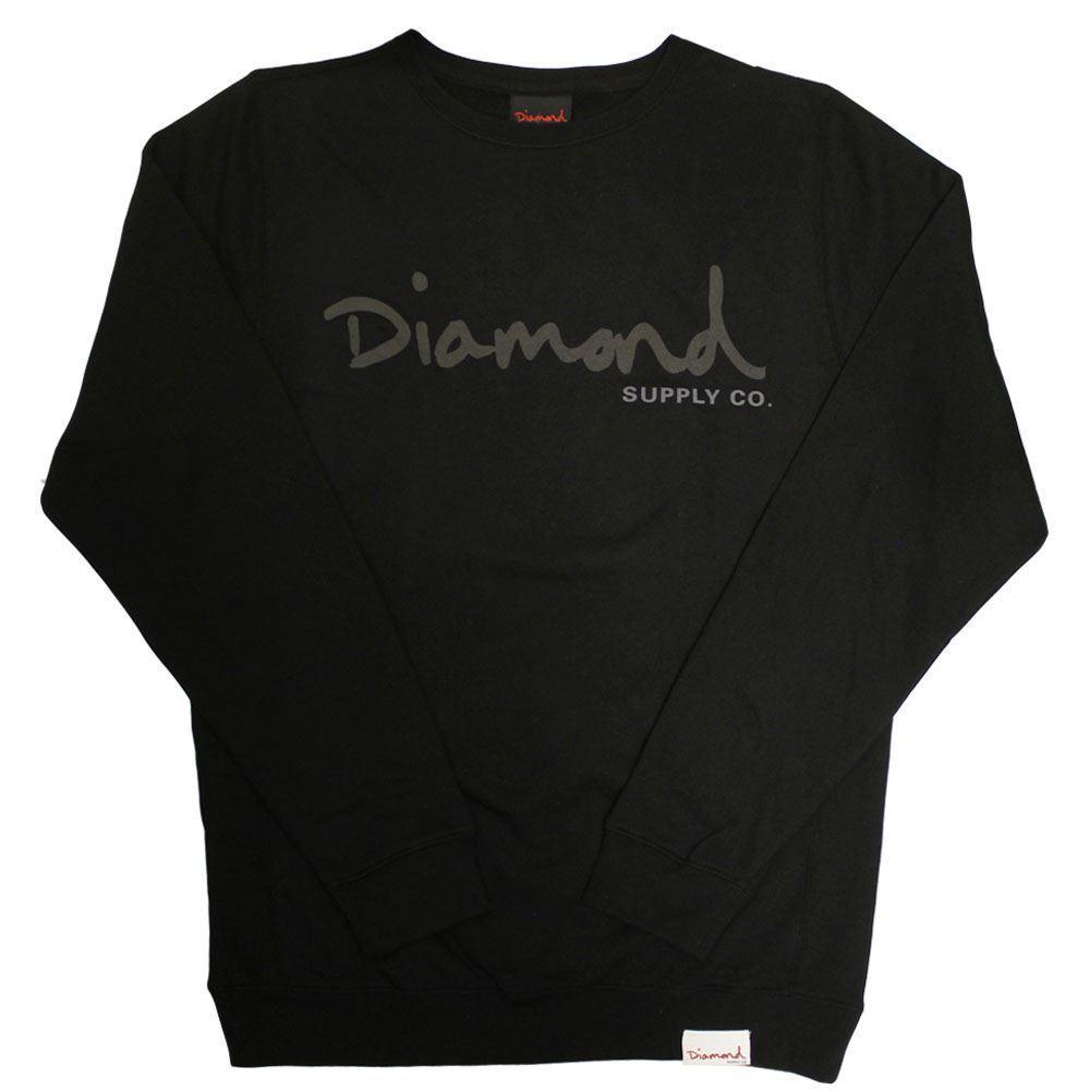 Diamond Supply Co Tonal OG Script Sweatshirt Schwarz