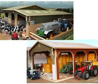 Brushwood Toys Model Farm Buildings - Wooden 1:32 Scale Farmyard Sheds & Barns