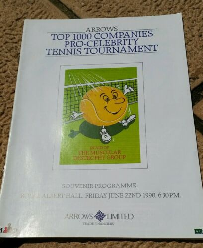 ProCelebrity Tennis Tournament Programme at the Royal Albert Hall