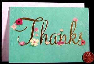thanks whimsical flowers roses posies gold shine small thank you