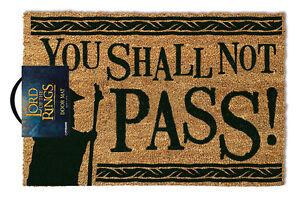 Official Lord of the Rings Doormat - 100% Coir Rubber Back Door Mat GP85071