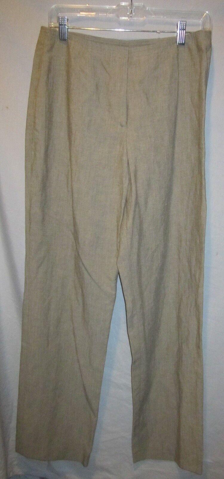 SIGRID OLSEN SPORT DARK TAUPE LINEN BLEND DRESS PANTS SZ 8 NWOTS  139 RETAIL
