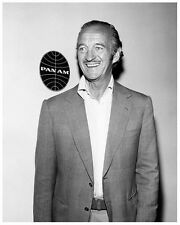 DAVID NIVEN great 8x10 still in front of PAN AM sign -- (y840)
