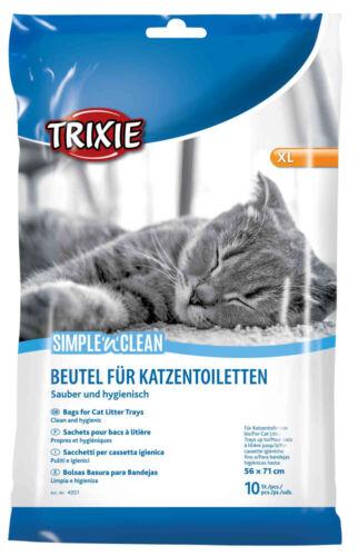 Trixie simple /'n/' clean bolsas para Gatos Bandejas extra grande 56 X 71cm Multi Compra!