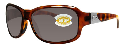 Costa Del Mar inlet tortoise frame gray 580P plastic lens new IT10OGP