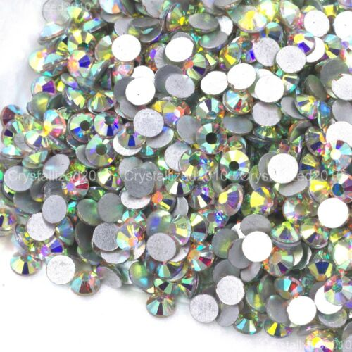 Crystal AB Top Quality Czech Crystal Rhinestone Flatback Nail Art Jewelry Making