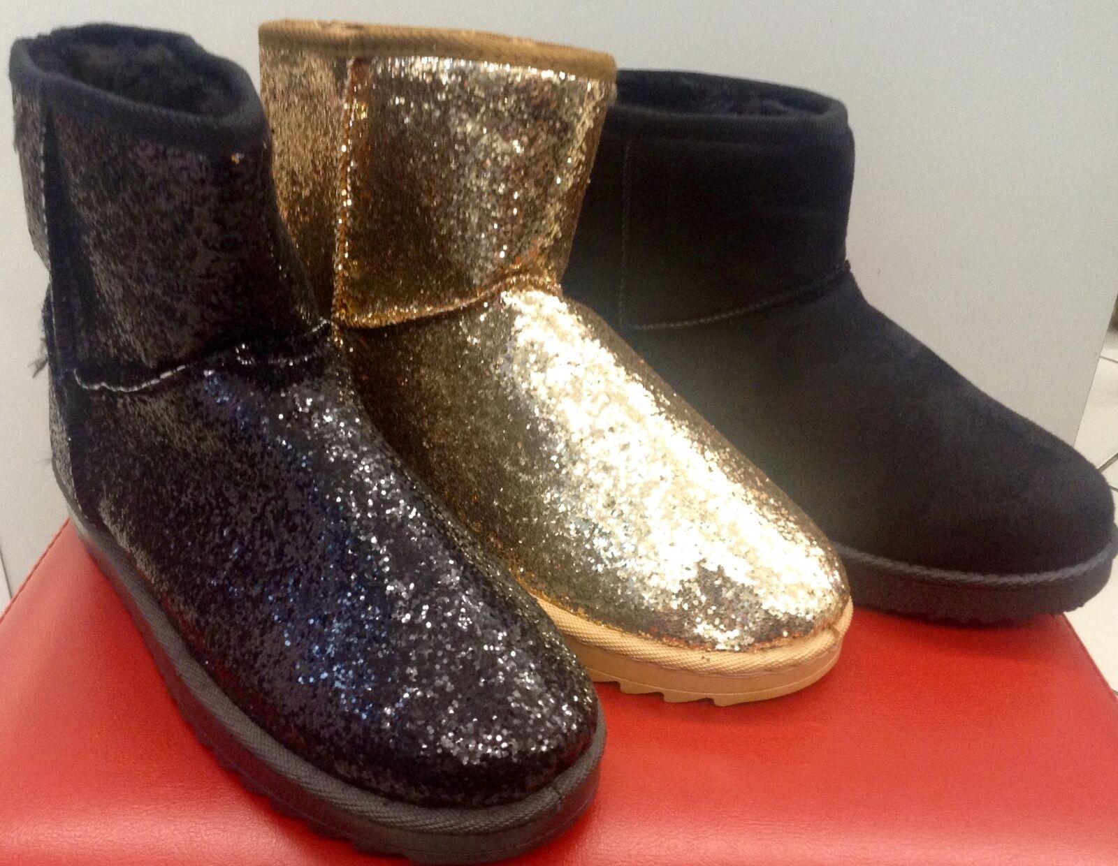 Damen Schlupf Winter Schuhe Gefüttert Stiefeletten Ankle Boots Gr. 36-41