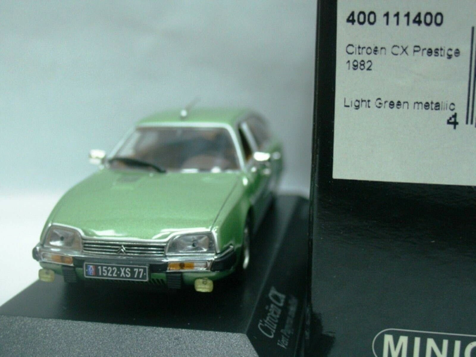 Wow extrêmement rare CITROEN CX PRESTIGE 2.4 L 1982 Vert M 1 43 Minichamps-SM