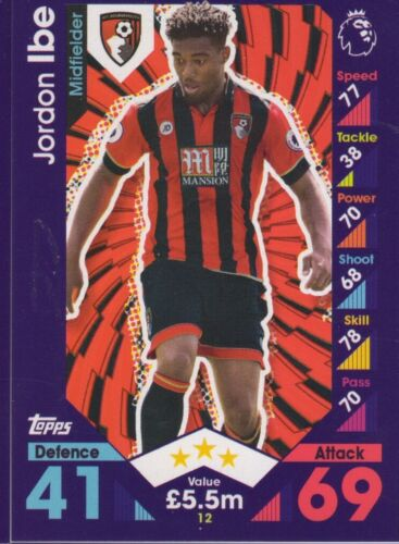 Topps Match Attax /& Match Attax EXTRA 2016 2017 16 17 Tarjetas de AFC Bournemouth