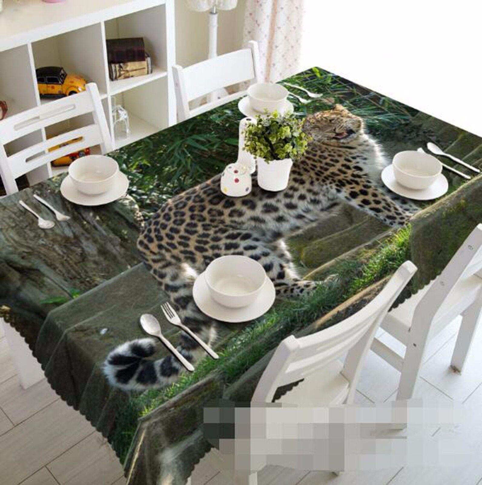 3D Leopard 54 Nappe Table Cover Cloth fête d'anniversaire AJ papier peint Royaume-Uni Citron