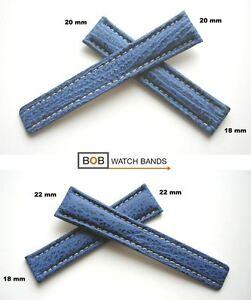 BOB-Echt-Haifisch-Faltschliessenuhrband-Kompatibel-mit-Breitlingfaltschliesse-Wahl