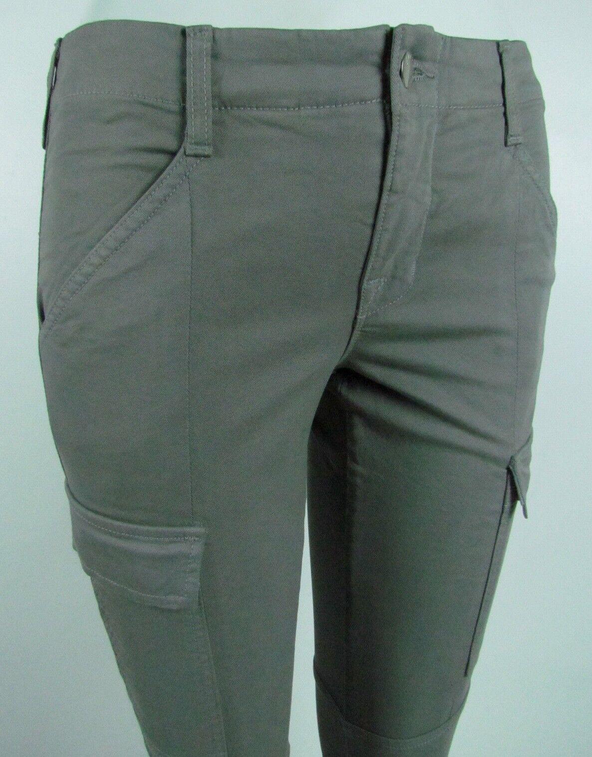J BRAND HOULIHAN SKINNY CARGO Woman's Mid rise Jeans SZ 26 in VINTAGE DIM GREY