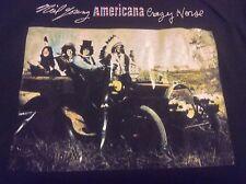 Neil Young & Crazy Horse Americana Band Logo Album Concert Tour T-Shirt Medium