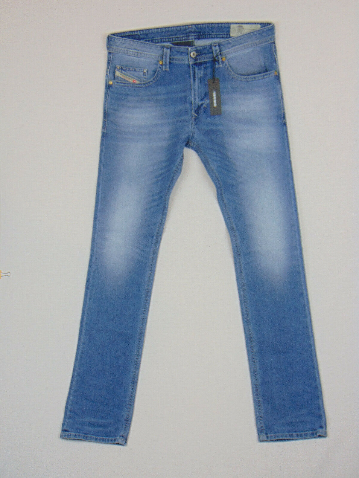 New Diesel THAVAR 0842H Slim Skinny W33 L34 Mens bluee Stretch Denim Jeans