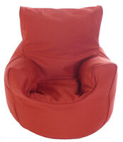 Cotton Terracotta Bean Bag Arm Chair with Beans Toddler Size From BeanLazy