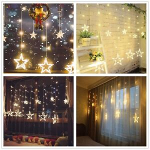 Led Lichterkette Stern Party Weihnachten Fenster Deko Beleuchtung