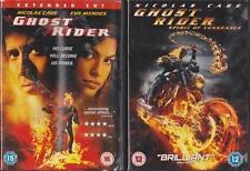 GHOST RIDER 1 & 2 SPIRIT OF VENGEANCE [One,Two] Nicolas Cage Marvel DVD *EXC*