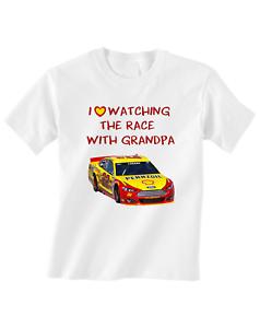 Nascar Joey Logano Toddler T-Shirt Love Watching With Grandpa
