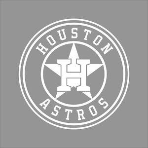 Houston Astros Mlb Team Logo 1 Color Vinyl Decal Sticker