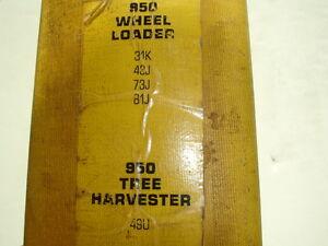 CATerpillar 950 Wheel Loader Tree Harvester Factory SERVICE MANUAL Shop Repair