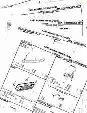 1972 JEEP COMMANDO 72 BODY PARTS LIST PARTS NUMBERS CRASH SHEETS!