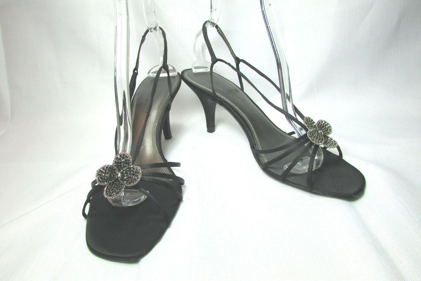 A. Marinelli Special Effects Black Strappy High Heel Sandals Size US 10 M