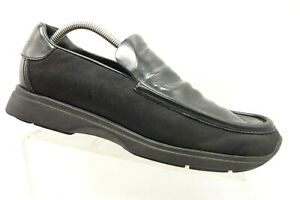 Gucci-Black-Leather-Dress-Casual-Slip-On-Loafers-Shoes-Men-039-s-9-D