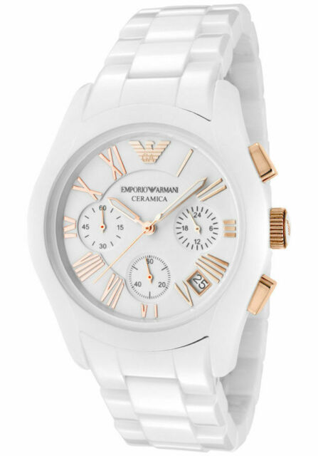 919cece22 Emporio Armani Ladies Ceramica Ceramic Chronograph Watch AR1417 for ...
