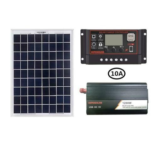 LCD Controller 1200W Solar Energy Power System Inverter Set Battery Reverse