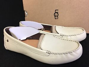 9d78847ad6f Details about UGG Australia Milana Water Resistant Leather Loafer Canvas  1016767 Women's Flats