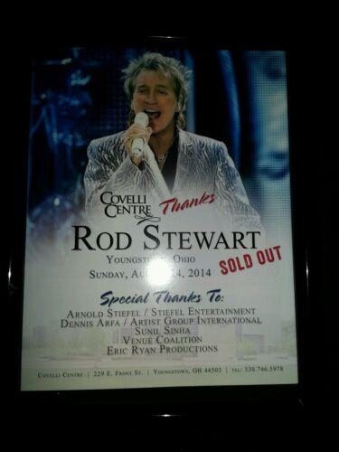 Rod Stewart Youngstown Ohio 2014 Rare Original Concert Promo Ad Framed!