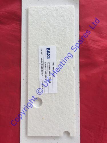 Chauffage principal 9-24he seulement chambre de combustion avant panneau d/'isolation 5000537