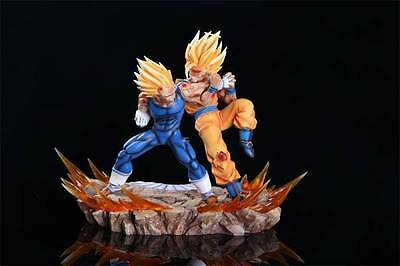 "NEW Dragonball Z Statue - 12"" GK Resin Sculpture Goku vs Majin Vegeta Figure"
