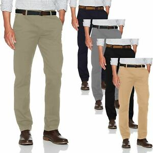 New-Mens-Ex-Store-Chino-Summer-100-Cotton-Regular-Straight-Leg-Pants-Trouser