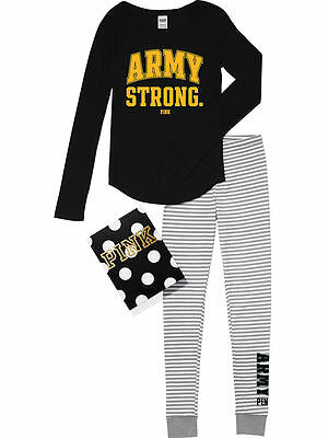 VICTORIA'S SECRET PINK ARMY 2-PIECE LOUNGE PAJAMA TEE+PANT SZ.XS & MEDIUM&LARGE