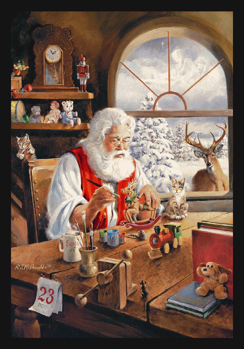 4x6 Milliken Santa Gift Workshop Christmas Area Rug - Approx 3'10 x5'4