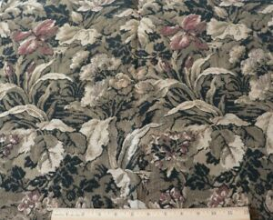 French-Vintage-c1920-Woven-Cotton-Jacquard-Floral-Tapestry-Fabric-L-29-034-X-W-23-034