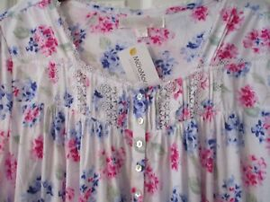 9eed29c664 Image is loading EILEEN-WEST-NIGHTGOWN-Cotton-Modal-Cap-Sleeve-Pink-