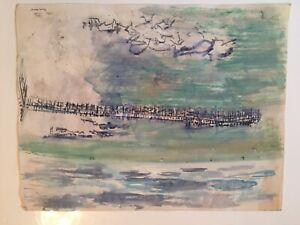 Emil-Hess-Signed-Civil-War-Soldier-Original-Watercolor-8-x-10