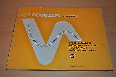 Aus Dem Ausland Importiert Wartungsanleitung Ersatzteilkatalog Parts List Honda Cb125j