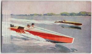 Outboard-Motor-Racing-Speed-Boat-1930s-Trade-Ad-Card