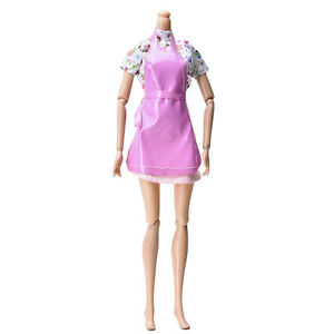 3X-Set-Clothes-for-s-with-Apron-Kitchen-Suit-Cute-Baby-Dolls-Accessory-New