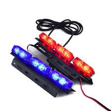 2X 12 LED Car Police Strobe Flash Light Dash Emergency Warning Flashing Red/Blue