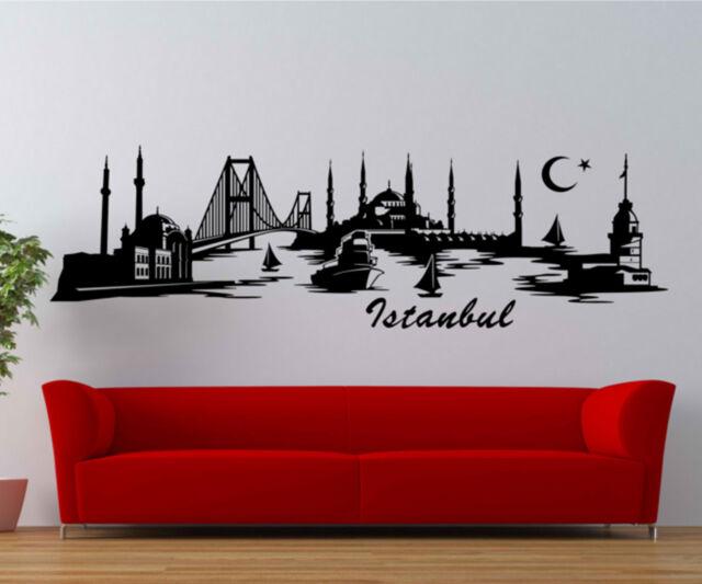 WANDTATTOO Skyline Istanbul Türkei, Wandsticker Türkiye Stadt Aufkleber 1M062_2
