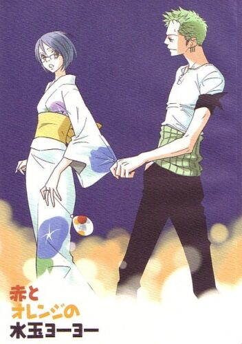 """ONE PIECE Doujinshi /"""" Aka to Orange no Mizutama Yo-yo /"""" Zoro Tashigi"""