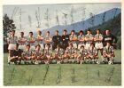 Cartoncino Hurrà Juventus Squadra 1973-74 Fronte Con Firme Stampate