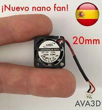 Mini Micro Ventilador refrigeración 20mm 5v FAN 3D Printer Reprap arduino cnc Rc