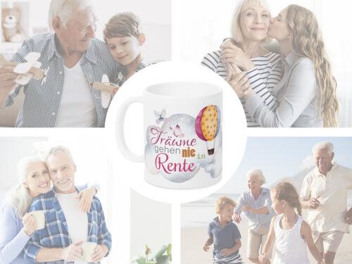 Tasse Geschenk Gratulation Rentenbeginn Ruhestand Rentner Kaffeebecher Spruch