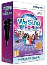 Karaoke Wii/WiiU juego We Sing pop + 2 micrófonos micrófonos u nuevo